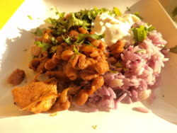 may -   Beans and Purple Rice
